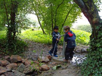 Abenteuerwald Mombach Wasserpumpe
